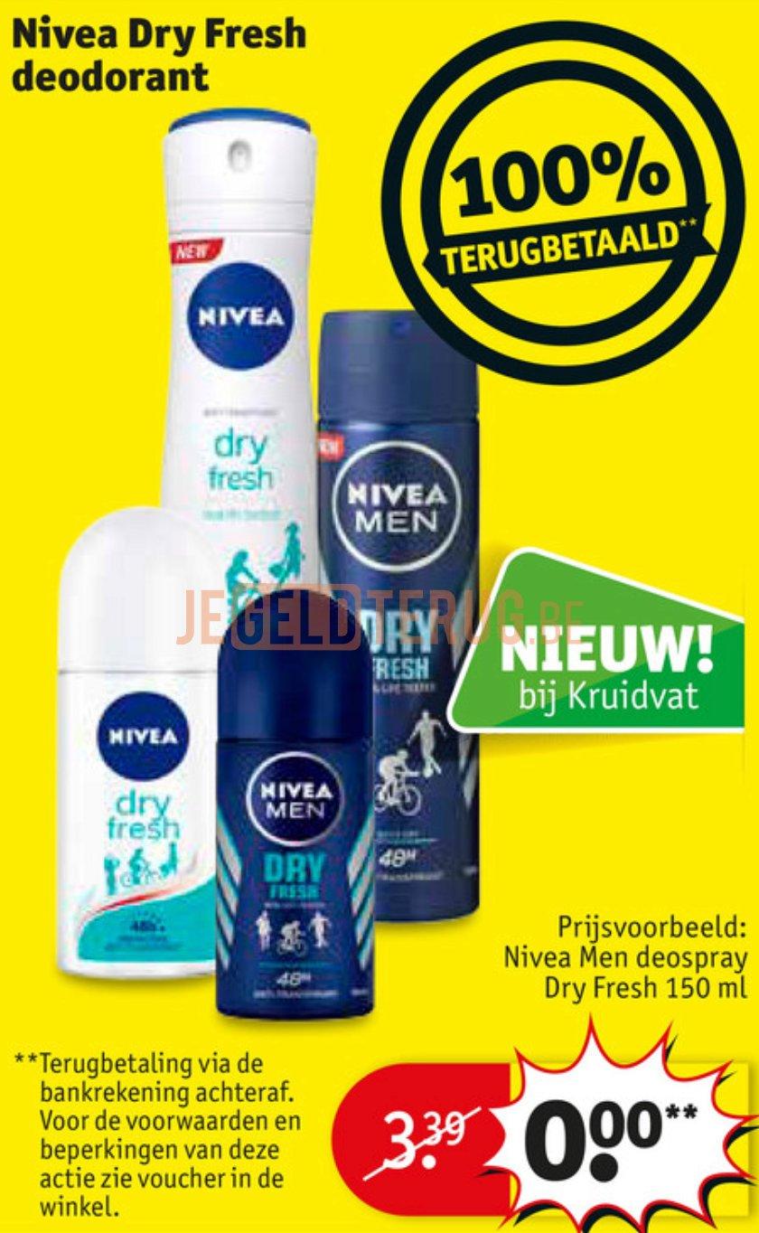 Nivea Dry Fresh Deodorant 100 Terugbetaald Jegeldterugbe 100