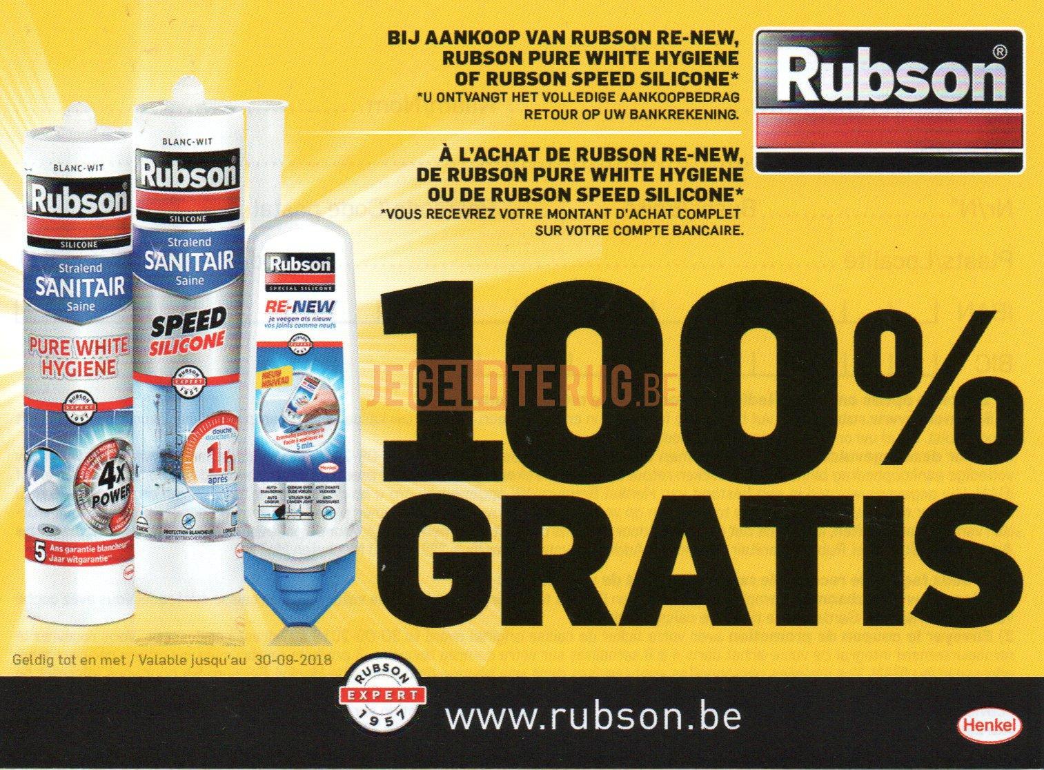 Rubson sanitair 100 terugbetaald 100 terugbetaald - Rubson re new ...